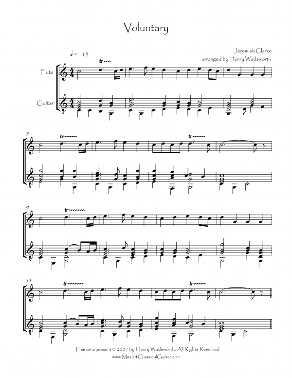 View first page preview of Voluntary (Flute and Guitar).